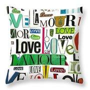 Ransom Art - Love Throw Pillow
