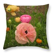 Ranunculus 4 Throw Pillow