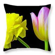 Ranunculus And Tulip Throw Pillow