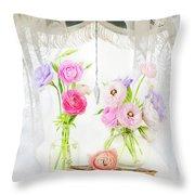 Ranunculus In Window Throw Pillow