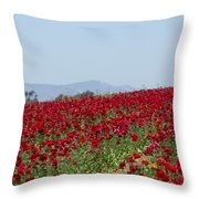 Ranunculus Red Throw Pillow