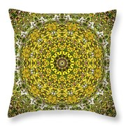 Rapeseed And Apples Throw Pillow