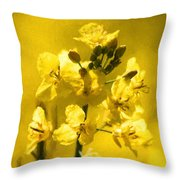 Rapeseed Throw Pillow