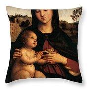 Raphael Madonna And Child C Throw Pillow