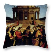 Raphael Marriage Of The Virgin Throw Pillow