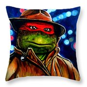 Raphael Ninja Turtle Throw Pillow