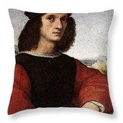 Raphael Portrait Of Agnolo Doni Throw Pillow
