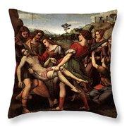 Raphael The Entombment Throw Pillow