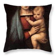 Raphael The Granduca Madonna Throw Pillow
