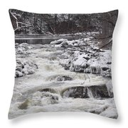 Rapids At Bull's Bridge 1 Throw Pillow
