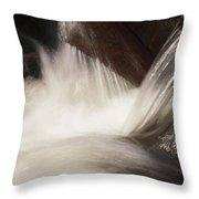 Rapids, Bear Creek Throw Pillow