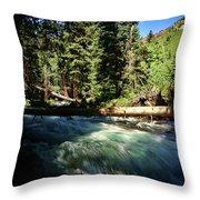 Rapids Near Maroon Bells Throw Pillow