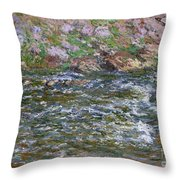 Rapids On The Petite Creuse At Fresselines, 1889 Throw Pillow