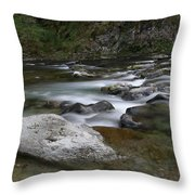 Rapids On The Washougal River Throw Pillow
