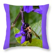 Rappelling Down A Flower Throw Pillow