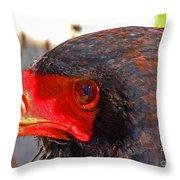 Raptor Head Throw Pillow