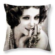 Raquel Torres, Vintage Actress Throw Pillow