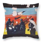 The Colour Of War Throw Pillow