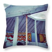 Rare Los Angeles Historical Architecture Site With Graffiti  Throw Pillow