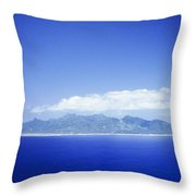Rarotonga Aerial Throw Pillow