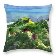 Rarotonga, Te Kou Mountain View Throw Pillow by Judith Kunzle