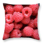Rasberries Market Bergen Throw Pillow