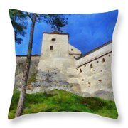 Rasnov Fortress Throw Pillow