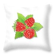 Raspberry Bunch  Throw Pillow