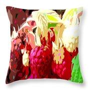 Raspberry Bush Throw Pillow