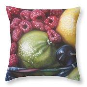 Raspberry Lime Throw Pillow
