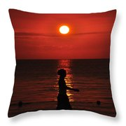 Rastaman Sunset Throw Pillow