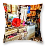 Rat In The Back Throw Pillow