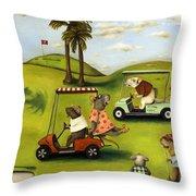 Rat Race 2  At The Golf Course Throw Pillow