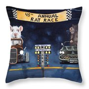 Rat Race Throw Pillow