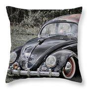 Rat Rod Beetle Throw Pillow