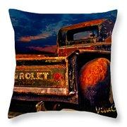 Rat Rod Chevy Truck Throw Pillow