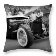 Rat Rod Looker Throw Pillow