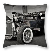 Rat Rod Scene 3 Throw Pillow