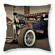 Rat Rod Scene Throw Pillow
