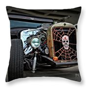 Rat Rod Style Throw Pillow