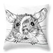 Rat Sketch Throw Pillow
