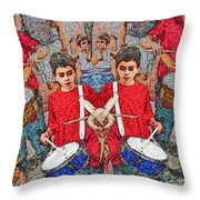 Ratatattat Throw Pillow