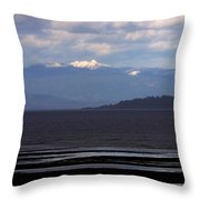 Rathtrevor Beach On Vancouver Island In British Columbia Throw Pillow