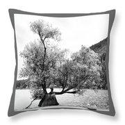 Rattle Snake Lake Throw Pillow