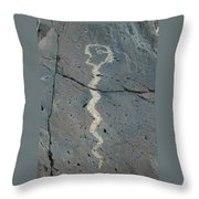 Rattlesnake Petroglyph 2 Throw Pillow
