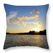 Raumanmeri Sunset Throw Pillow