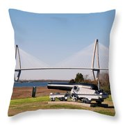 Ravanel Bridge From The Patriot Point Throw Pillow