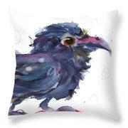 Raven 3 Throw Pillow