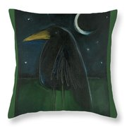 Raven By Moonlight No. 2 Throw Pillow