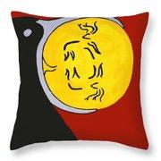 Raven Elk Moon  -013 Throw Pillow